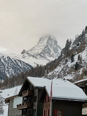 Matterhorn im Nebel