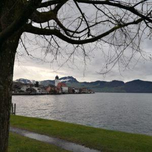 Blick ins Dorf Beckenried