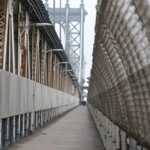 Pedestrian Walkway Manhattan Bridge