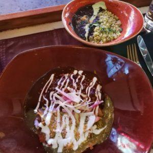 Burritos, separat Reis und schwarze Bohnen