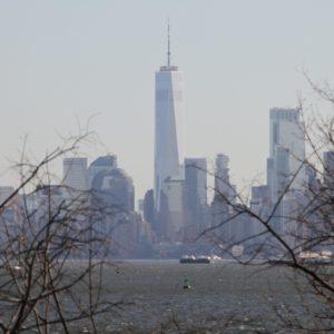 Blick von Staten Island aufs One World Observatory