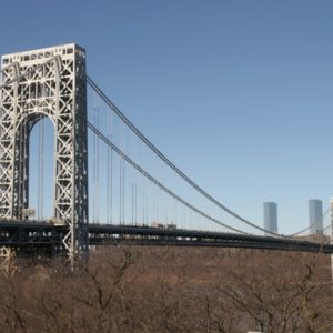 Washington Bridge, blauer Himmel