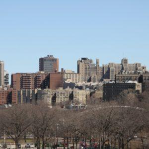 Blick auf Skyline von Washington Heights