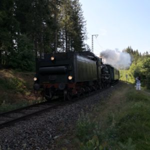 3-Seen-Bahn unterwegs mit Dampf