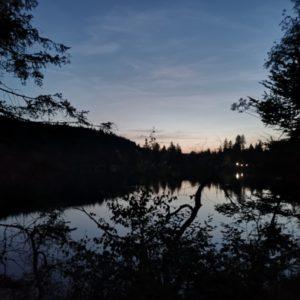 Windgfaellweiher bei Nacht