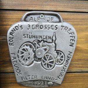 Plakette vom Traktorentreffen in Stühlngen in Silber