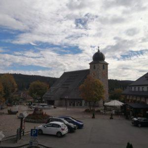 Dorfkern von Schluchsee mit Blick auf Kirche