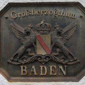 Schild Grossherzogtum Baden
